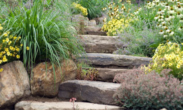 Garden, pool, landscape design and construction at Westchester's Westover Landscape Design