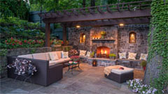 Westover Portfolio Landscape And Garden Design In Westchester - Fire and patio place