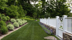 Outdoor lighting in Chappaqua Westover project