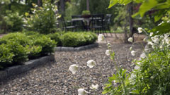Landscape and garden design for home in White Plains, New York